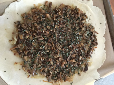 Wild Mushroom Onion Galette with Rosemary & Brie
