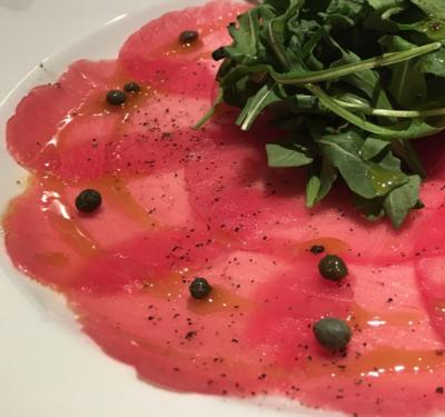 Tuna Carpaccio at Il Mulino
