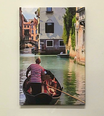 """Gondolier"" © Peter Tooker exhibiting at Guild Hall"