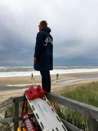 Lifeguard at Sagg Main © 2016 Claudia Ward