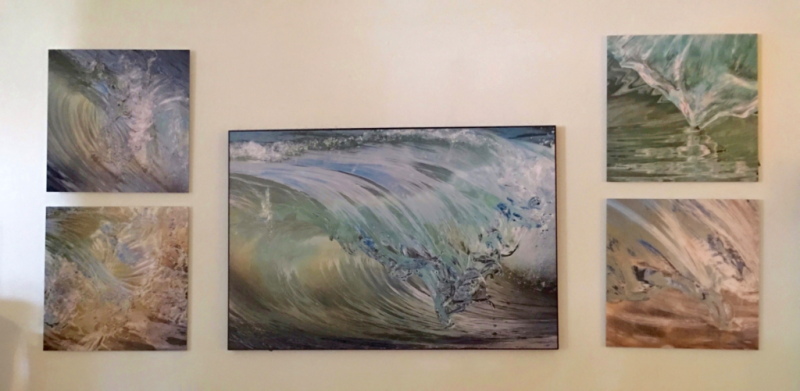 Wave Art by Claudia Ward at Coastal Home Bridgehampton