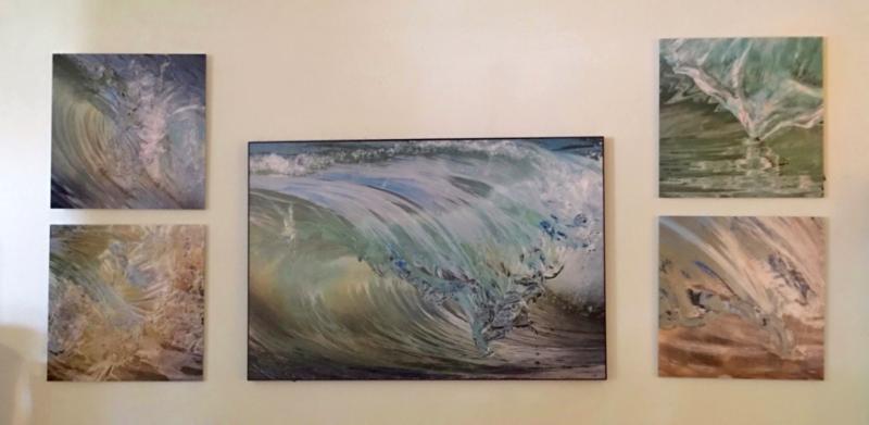 Wave Art by Claudia Ward at Coastal Home Bridgehampton