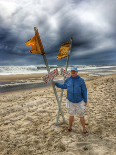 Mayor of Sagg Main, Lester Elliston during Hermine 2016