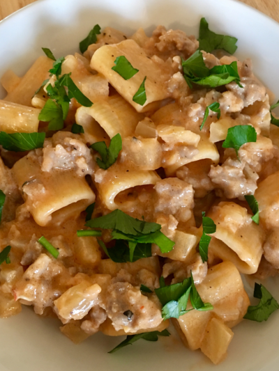 Rigatoni with Italian Sausage & Fennel © 2018 Claudia Ward