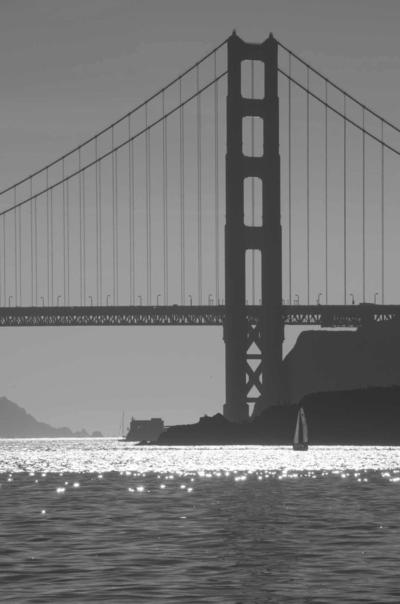 Black & Wgite Golden Gate Bridge © 2013 Claudia Ward