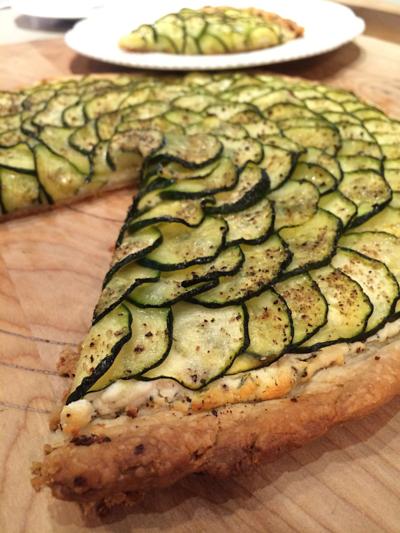 Zucchini & Goat Cheese Tart © 2015 Claudia Ward