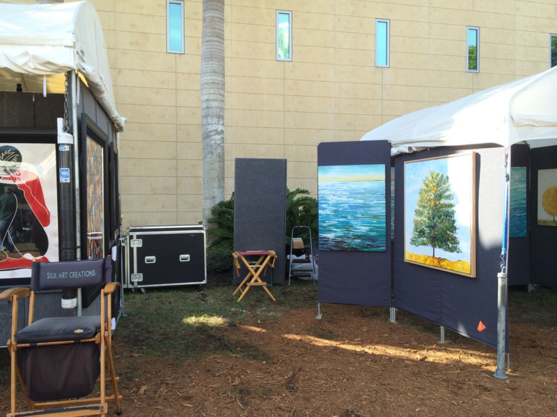 Our Unoccupied Booth Space at the St. Petersburg Fine Art Festival