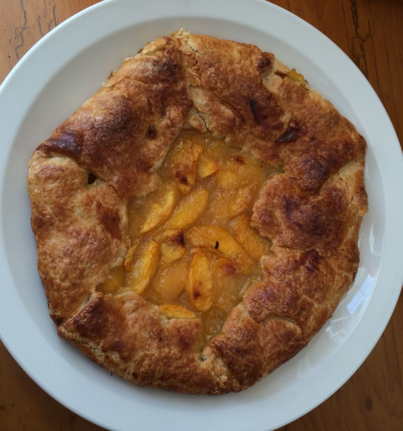Peach Galette ©2015 Claudia Ward