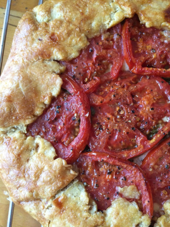 Tomato and Gruyere Cheese Galette © 2015 Claudia Ward