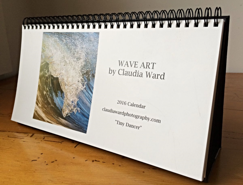 2016 Wave Art Calendar by Claudia Ward