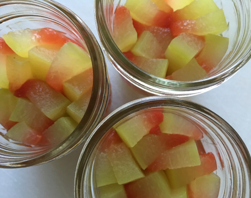 Watermelon Rind Pickles © 2016 Claudia Ward
