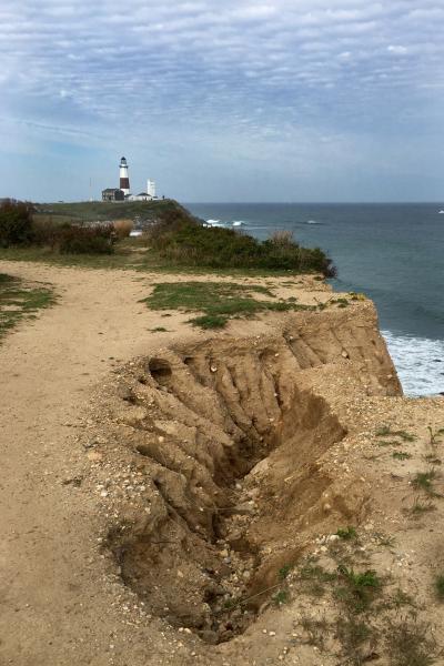 Montauk Lighthouse from Camp Hero © 2016 Claudia Ward
