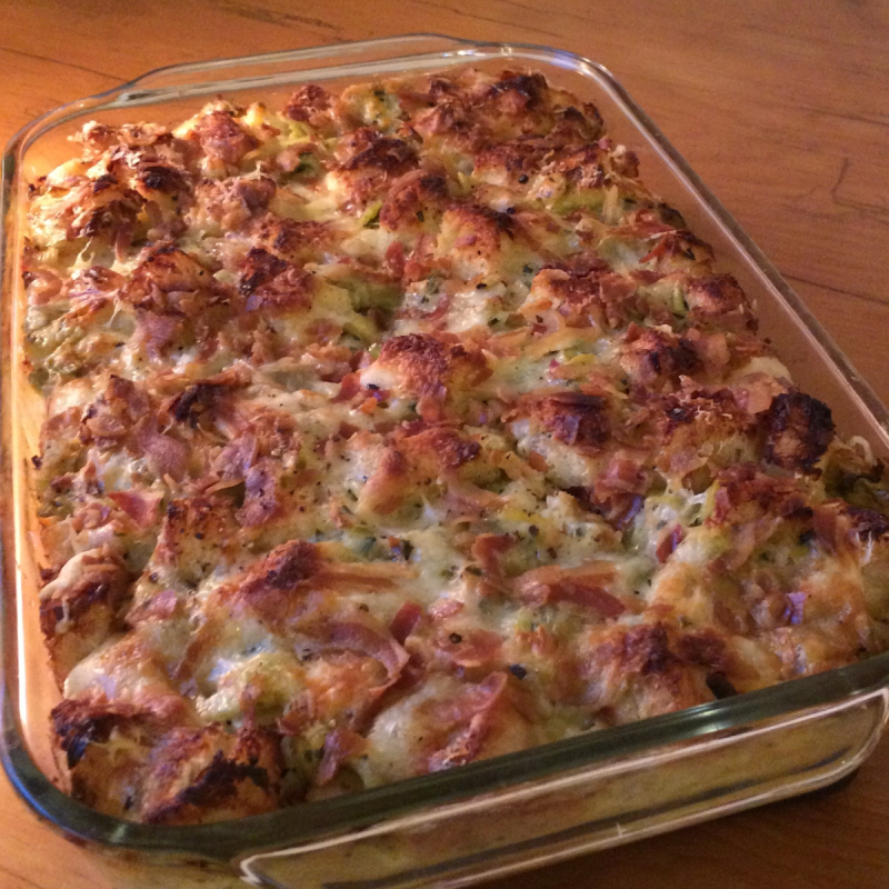 Leek & Artichoke Bread Pudding © Claudia Ward