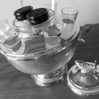 Polished Silver Caviar Dish © 2016 Claudia Ward