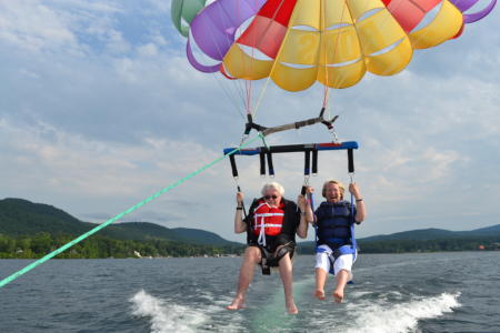 Decompressing over Lake George