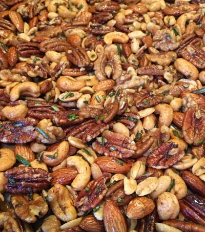Chipotle & Rosemary Roasted Nuts © 2018 Claudia Ward