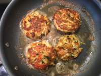 Frying Dungeness Crab Cakes II
