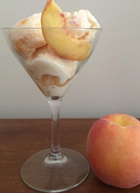 Fresh Peach Ice Cream © 2018 Claudia Ward