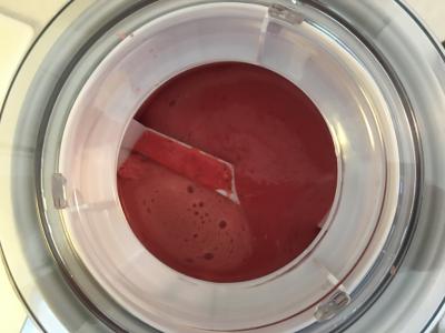 Churning Frozen Strawberry Ice Cream © 2017 Claudia Ward