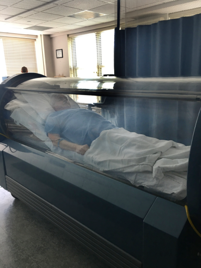Inside the Hyperbaric Oxygen Chamber