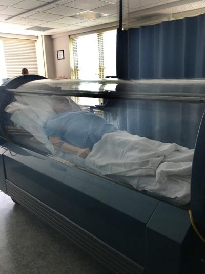 Inside the Hyperbaric Oxygen Chamber